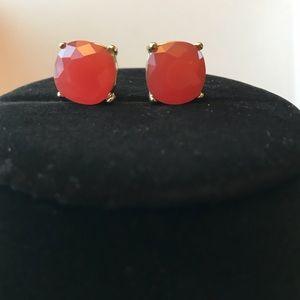 Jewelry - Pink Earrings Gold Metal Tone NWOT